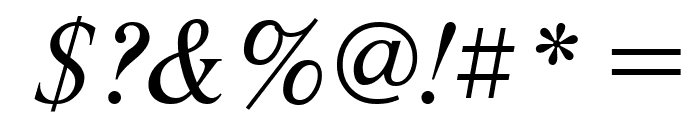 NewtonCTT Italic Font OTHER CHARS