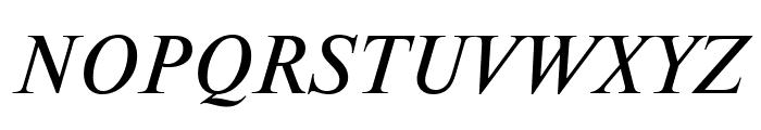 NewtonCTT Italic Font UPPERCASE