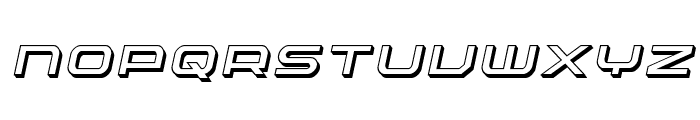 Nextwave 3D Italic Font LOWERCASE