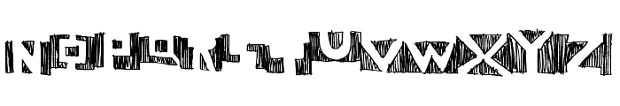 negative Font UPPERCASE