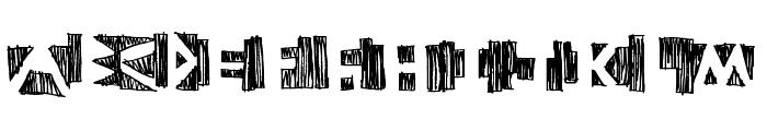 negative Font LOWERCASE