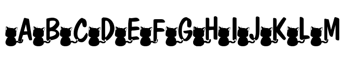 nekoFont Font UPPERCASE