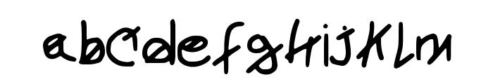 newjoshfont Font LOWERCASE