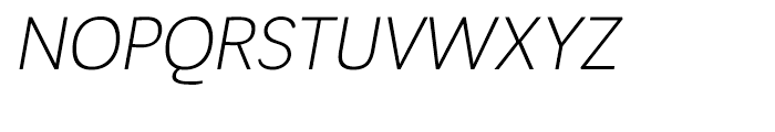 Negotiate Light Italic Font UPPERCASE