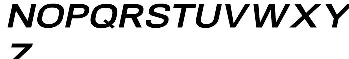 NeoGram Extended Bold Italic Font UPPERCASE