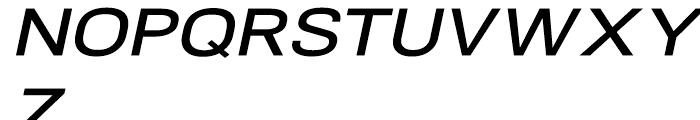 NeoGram Extended DemiBold Italic Font UPPERCASE