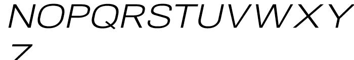 NeoGram Extended Italic Font UPPERCASE