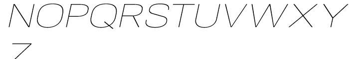 NeoGram Extended Ultra Light Italic Font UPPERCASE