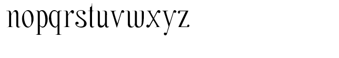 Nerea Regular Font LOWERCASE
