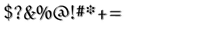 Neu Altisch Shadow Font OTHER CHARS
