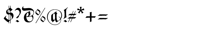Neudoerffer Fraktur Regular 3 Font OTHER CHARS