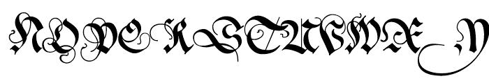 Neudoerffer Fraktur Regular 3 Font UPPERCASE