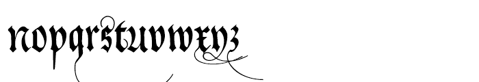 Neudoerffer Fraktur Regular 3 Font LOWERCASE