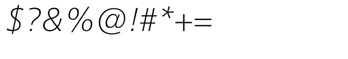 Neue Frutiger Cyrillic Thin Italic Font OTHER CHARS
