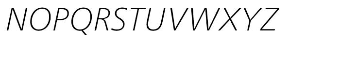 Neue Frutiger Cyrillic Thin Italic Font UPPERCASE