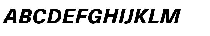 Neue Haas Unica Heavy Italic Font UPPERCASE