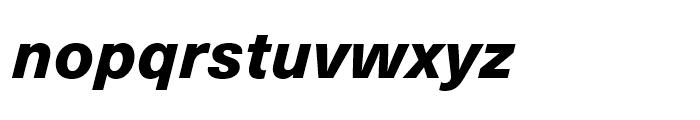 Neue Haas Unica Heavy Italic Font LOWERCASE