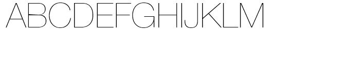 Neue Helvetica 25 Ultra Light Font UPPERCASE