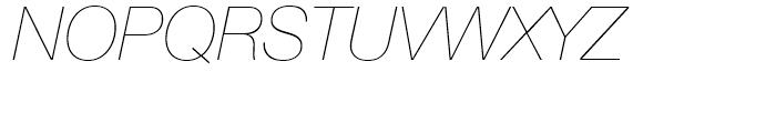 Neue Helvetica 26 Ultra Light Italic Font UPPERCASE