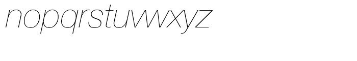 Neue Helvetica 26 Ultra Light Italic Font LOWERCASE