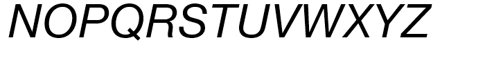 Neue Helvetica 56 Italic Font UPPERCASE