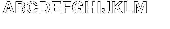 Neue Helvetica 75 Bold Outline Font UPPERCASE