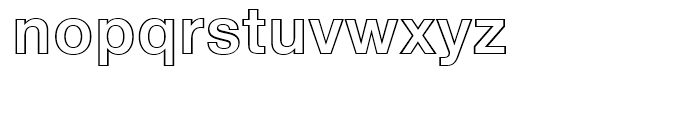 Neue Helvetica 75 Bold Outline Font LOWERCASE