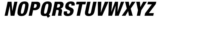 Neue Helvetica 87 Heavy Condensed Oblique Font UPPERCASE