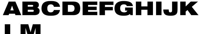 Neue Helvetica 93 Black Extended Font UPPERCASE