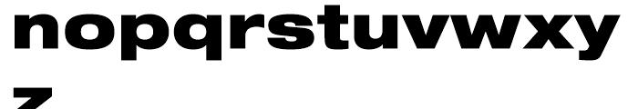 Neue Helvetica 93 Black Extended Font LOWERCASE
