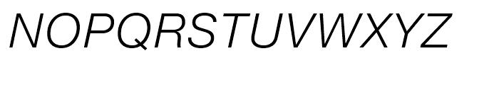 Neue Helvetica eText 46 Light Italic Font UPPERCASE
