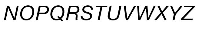 Neue Helvetica eText 56 Italic Font UPPERCASE