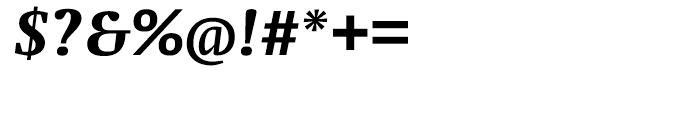 Neue Swift Bold Italic Font OTHER CHARS
