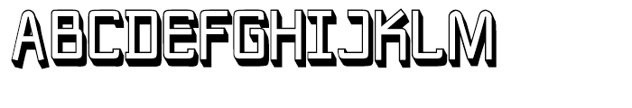 New Nerd Shadowed Font UPPERCASE
