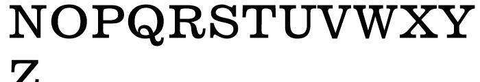 News 701 Roman Font UPPERCASE