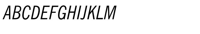 News Gothic BT Condensed Italic Font UPPERCASE