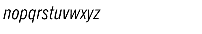News Gothic BT Condensed Italic Font LOWERCASE