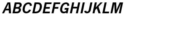 News Gothic Demi Oblique Font UPPERCASE