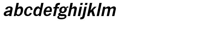 News Gothic Demi Oblique Font LOWERCASE