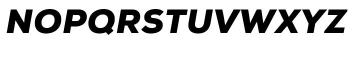 Nexa Black Italic Font UPPERCASE