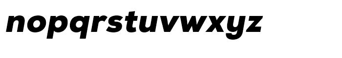 Nexa Black Italic Font LOWERCASE