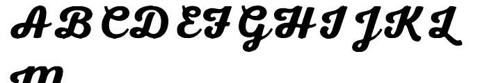 Nexa Rust Script B 00 Font UPPERCASE