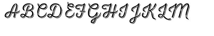 Nexa Rust Script T Shadow 02 Font UPPERCASE
