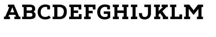 Nexa Slab Heavy Font UPPERCASE