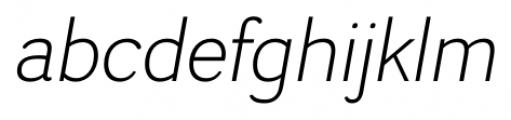 Negotiate Light Italic Font LOWERCASE