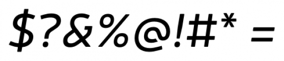 Neris Italic Font OTHER CHARS