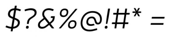 Neris Light Italic Font OTHER CHARS