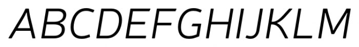 Neris Light Italic Font UPPERCASE