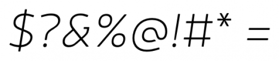 Neris Thin Italic Font OTHER CHARS