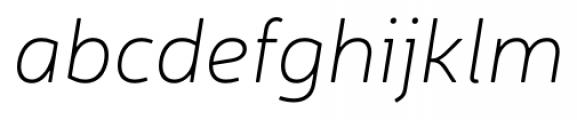 Neris Thin Italic Font LOWERCASE
